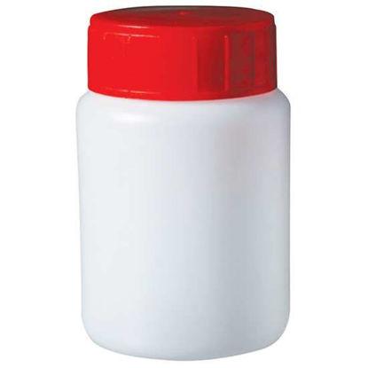 Corning Gosselin Round Bottle, 100 mL, HDPE, 37 mm red screw cap, sterile; 145/cs