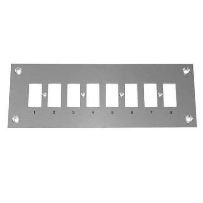 Digi-Sense Thermocouple Mounting Panel, Horizontal, Standard Connectors; 8 Circuits