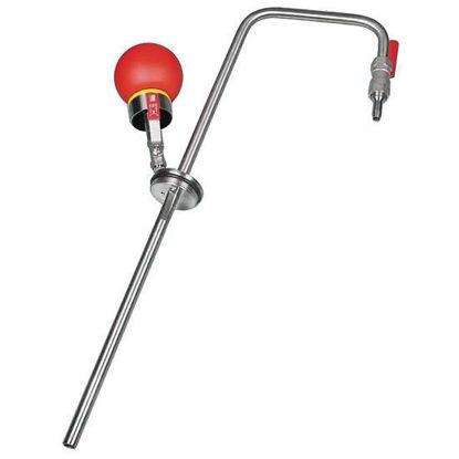 """Burkle, Inc. 5603-1000 Solvent pump, SS, squeeze bulb, discharge spigot, fits R2"""" thread, 60 cm immersion depth; 10L/min"""