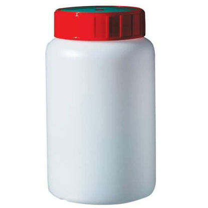 Corning Gosselin Round Bottle, 500 mL, HDPE, 58 mm red screw cap, sterile; 825/cs