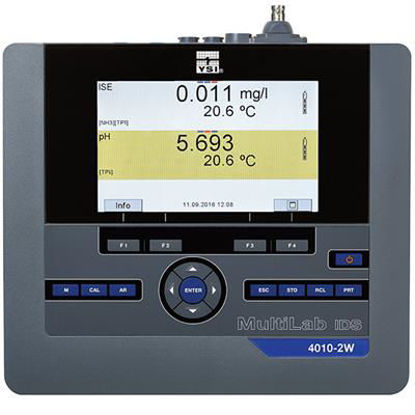 MultiLab 4010-2 Two Channel Benchtop Instrument with barometer, memory, data transfer via USB, and OUR/SOUR software. Includes two channel instrument with color display, universal AC power supply, electrode stand, USB cable and PC software.