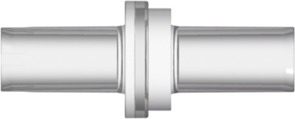 High Flow Check Valve, Pocket for 6.8 mm OD Tubing to Pocket for 6.8 mm OD Tubing, Cracking Pressure < .29 psig,   Flow Rate with water at 100 mbar is > 1000 ml/min, Clear MABS and Clear MABS w/Silicone Diaphragm, MOQ 100