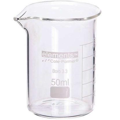 Cole-Parmer elements Low-Form Beaker, Glass, 30 mL, 12/pk