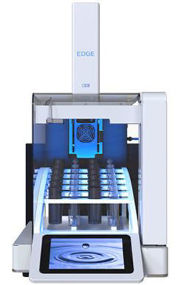 EDGE , The EDGE uses Q-Cup technology that combines the process of Pressurized Fluid Extraction and Dispersive Solid Phase Extraction in one instrument that yields rapid and efficient extraction. A fully integrated sample prep instrument wi