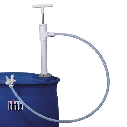 Burkle, Inc. 5606-1001 Hand Operated Drum Pump with Discharge Tubing, PTFE/FEP, 95 cm inlet tube, 400 mL/stroke