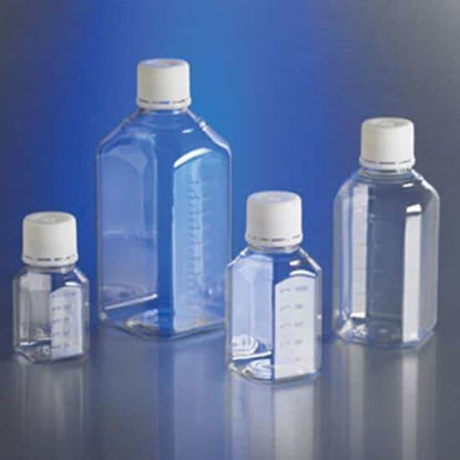 Corning Gosselin Octagonal Storage Bottle, sterile PET, graduated, bulk pack, 250 mL; 144/cs