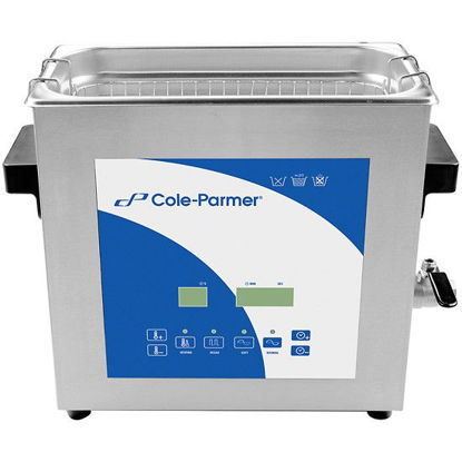 Cole-Parmer 6 Liter Ultrasonic Cleaner with Digital Timer and Heat, 230 VAC