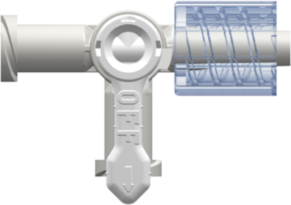 Stopcock 4-way Female Luer to Female Luer to Male Luer w/ Luer Lock Ring