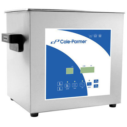 Cole-Parmer 9 Liter Ultrasonic Cleaner with Digital Timer and Heat, 230 VAC