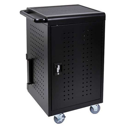 Luxor LLTM30-B 30-Tablet/Chromebook Charging Cart, Black