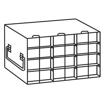 Argos Technologies PolarSafe® RDH5034A Upright Freezer Drawer Rack for 50-Cell Hinged Top Plastic Boxes, 3 x 4 Array