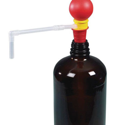 Burkle 5005-1000 Small hand pump, squeeze bulb operation, PP, 10 mm tube, 20-36 mm bunge; up to 10 L