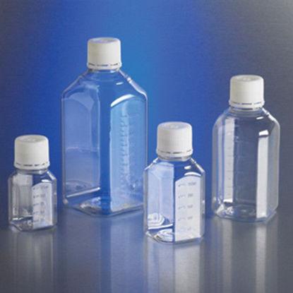 Corning Gosselin Octagonal Storage Bottle, sterile PET, graduated, bulk pack, 125 mL; 336/cs