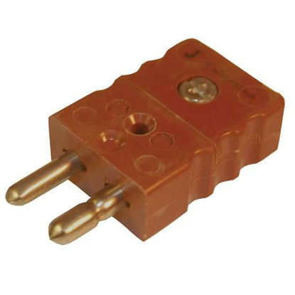 Digi-Sense Standard Type-J Thermocouple Male Connector, 2 Pin, Hollow