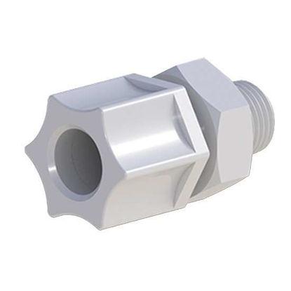 "Cole-Parmer VapLock Tubing Adapter, 1/2"" OD tubing x 1/4"" NPT(M), Polypropylene; 5/pk"