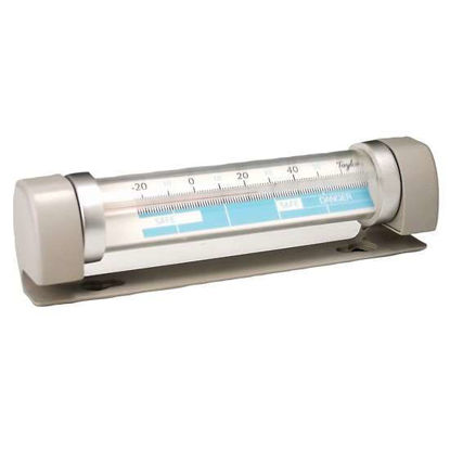 Taylor 517 Connoisseur Series Refrigerator / Freezer Analog Tube Thermometer with Safety Zones