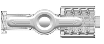 Stopcock, 1-way, Female Luer to Male Luer w/ Luer Lock Ring, Large Bore