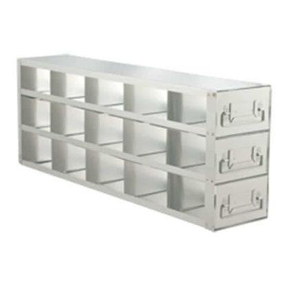 "Argos Technologies PolarSafe® RD533A Upright Freezer Drawer Rack for Standard 3"" Boxes, 5 x 3 Array"