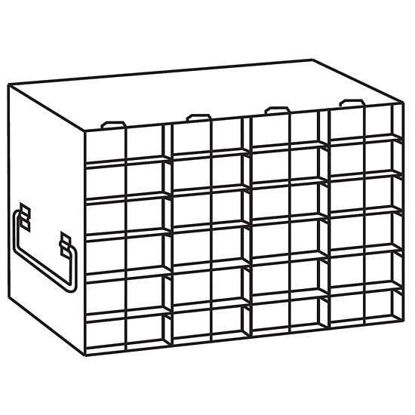 """Argos Technologies PolarSafe® RMM46A Upright Freezer Rack for Microtube Boxes with 1 1/8"""" Max Height, 4 x 6 Array"""
