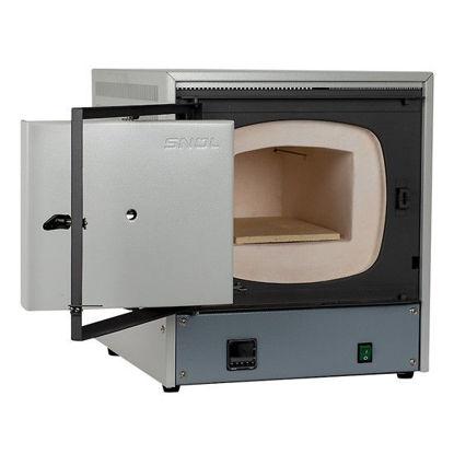 SNOL 8.2/1100 LSM01 Muffle Furnace, 8.2 L, Sideways Opening Door, 230V