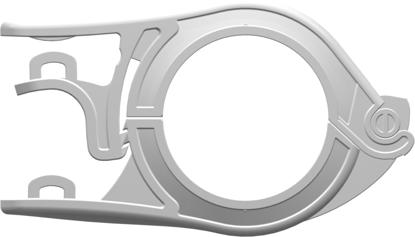 "PharmaLokâ""¢ Easy-Open Clamp Series Hygienic Union TC Version 1 ( 25.4 mm) to 1.5""; 38.1 mm) Glass Reinforced White Nylon"