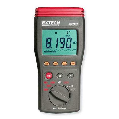 Extech 380363 Digital Insulation Tester Hi-Volt 250/500/1,000V