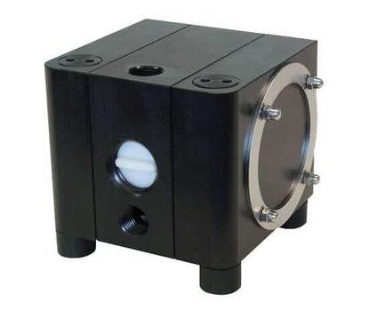 """Almatec CXM 20 Mid-Range Duty AODD,  Conductive Polyethylene, PTFE Diaphragms,PTFE Valve Balls, 1/2"""" NPT, 90°-inlet-outlet"""