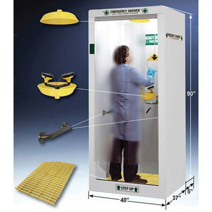 "HEMCO Emergency Shower/Decontamination Booth, 40"" W"
