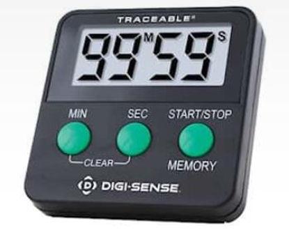 Digi-Sense Traceable® 99min/59s Digital Timer with Calibration