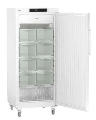 LGv 5010 Laboratory Freezer with Comfort Controller, Volume 478 L, Dynamic Cooling, Dimension 747 x 750 x 1844 mm, White Steel Cabinet Finish, -9°C to -35°C
