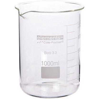 Low-Form Beaker, Glass, 1500 mL, 2/pk