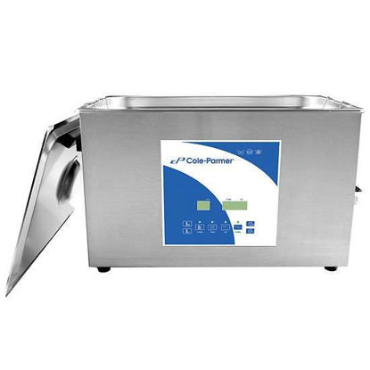 Cole-Parmer 27 Liter Ultrasonic Cleaner with Digital Timer and Heat, 230 VAC, 40KHz,  Degas mode for improved cleaning efficiency and easy sample prep, Timed operation from 1-99min, Adjustable heating to 80℃.