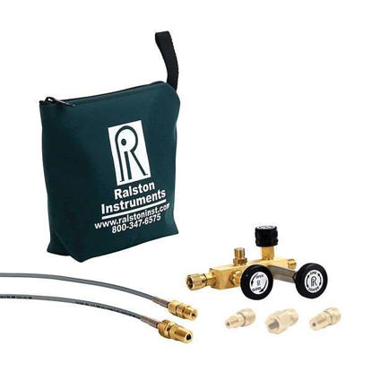 "Ralston Instruments QTCM-1KPSIG-D Calibration Manifold w/Digital Gauge; 1/4"" NPTM/Brass"