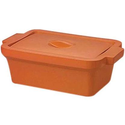 "Corning EVA-Foam Ice Pan with Lid, Orange with Lid, 4 L; 1/Each"""