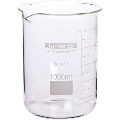 Cole-Parmer elements Low-Form Beaker, Glass, 3000 mL, 1/pk