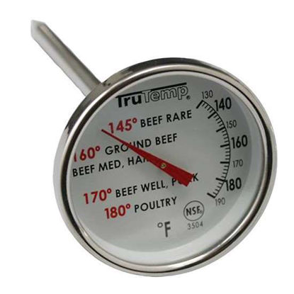 Taylor 3504 TruTemp Series Compact Dial Meat Thermometer with FDA Temp Guidelines