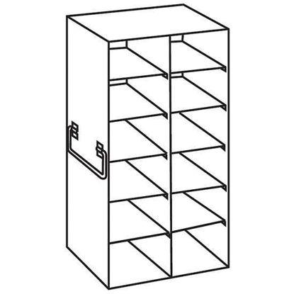 "Argos Technologies PolarSafe® RF262A Upright Freezer Rack for Standard 2"" Boxes, 2 x 6 Array"