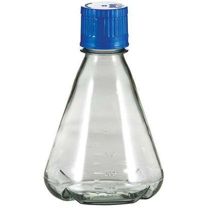 TriForest FBC0500S Polycarbonate Baffled-Base Sterile Erlenmeyer Shaker Flask, 500 mL, PP Cap, Packs of 12, 48/CS