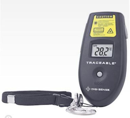 Digi-Sense Traceable® Infrared Thermometer with Wristband and Calibration