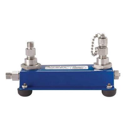 Ralston Instruments MF2S-QM-QM-PL Ralston 2-Port Manifold w/Quick-Test Connections, 5000 psi
