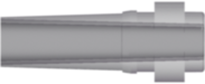 Build-a-Part Male Luer (May be used with separate rotating lock ring RMLLR) Polysulfone