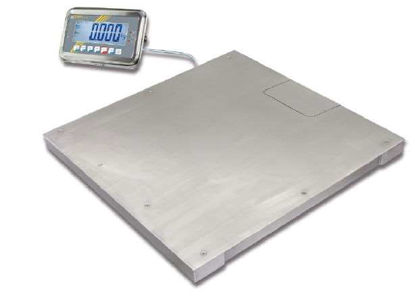 Industrial scale - stainless steel Max 1500 kg; e=500 g; d=500 g