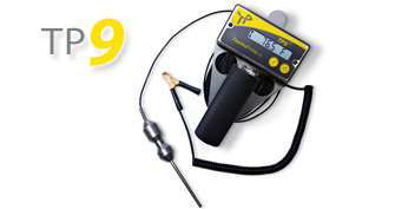 TP9 Thermometer, 75ft (23m) cable, Standard Weight Probe, Brass Markers at 1 meter intervals, ATEX/IECEx Certification (Ex ib [ia] IIB T4), Ambient temperature range -20°C to +40°C