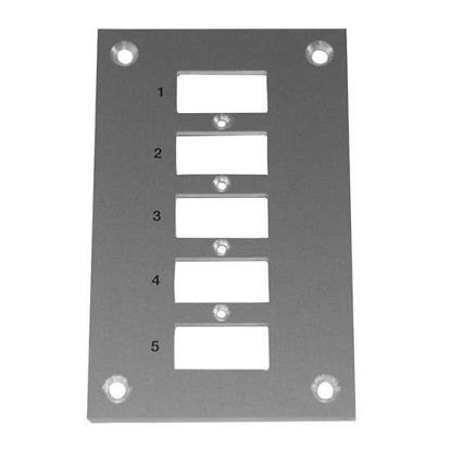 Digi-Sense Thermocouple Mounting Panel, Vertical, Mini Connectors; 5 Circuits