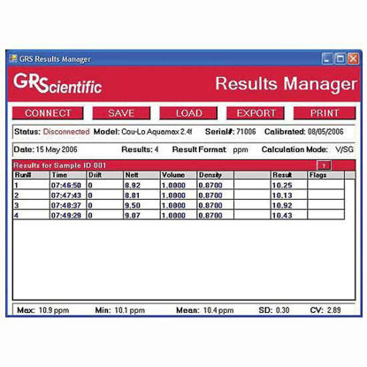 SOFTWARE RESULTS MANAGER