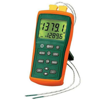 Extech EA15 Easyview Thermocouple Thermometer - Dual Channel with Datalogger