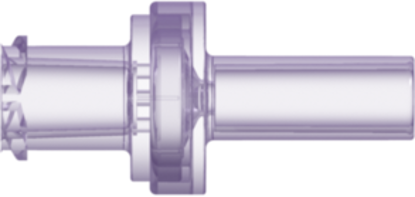 Check Valve Female Locking Luer to Pocket for .118in (3.0 mm) OD Tubing Cracking Pressure &lt= .174 psig Flow Rate &gt= 90 ml/min Clear Polycarbonate w/Silicone Diaphragm