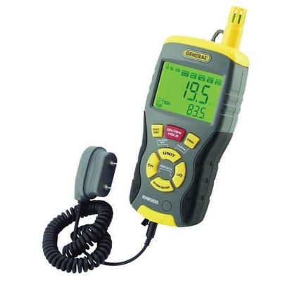 General Tools RHMG650 9-in-1 Pin/Pinless Digital Moisture Meter with Thermohygrometer