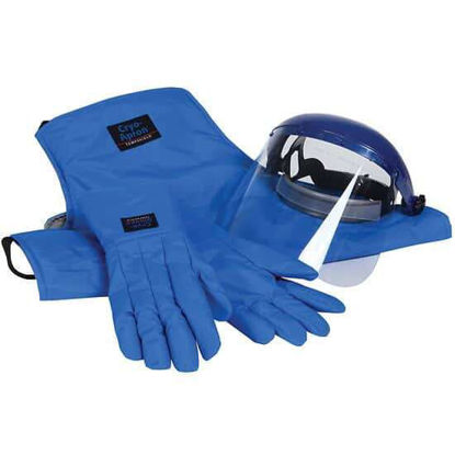 "Cole-Parmer Cryogenic Safety Kit; Large Gloves, 48"" Long Apron, and Face Shield"