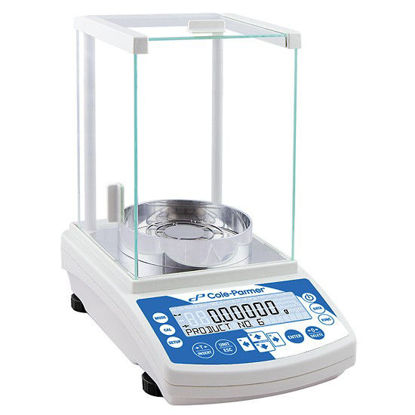 Cole-Parmer Symmetry LA-225.C Analytical Balance with LCD, 82g/220g x 0.01mg/0.1mg, Internal Calibration